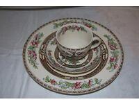 Bengal tree china - 1 large plate, 1 tea cup, 1 saucer