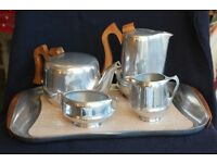 Fantastic Original Picquot Ware Tea Set With Tray 1950s