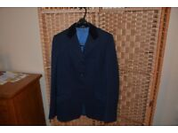 Riding Show Jacket. Navy with Velvet Collar