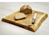 WOODEN KITCHEN CUTTING AND SERVING BOARD SOLID OAK WOOD