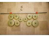 York 25kg barbell vinyl set