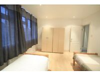 M/ EXTRA LARGE TWIN ROOM IN FINCHLEY ROAD ALL INCLUSIVE ONLY 195 FOR TODAY