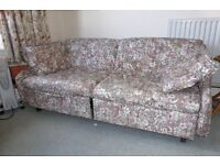 Double sofa bed floral print