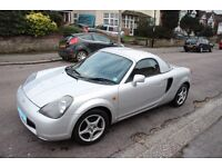 2001 Silver Toyota MR2 Roadster Hardtop & AC - Great car, fantastic to drive. Quick Sale Needed.