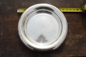 Unusual Serving plate / cheese platter / Fruit Centrepiece GH HULLEY A1 Minimalist design silver