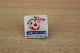 WELSH PREMIER LEAGUE CORBETT SPORTS ENAMEL FOOTBALL BADGE £1.50 01686 627366