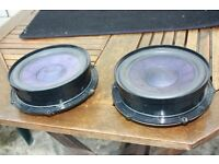 VW Touran front door speakers and stereo and lowering springs