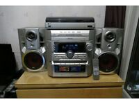 LG HIFI stereo record player cd player cassette deck tuner powerfull remote 3d sound x bass