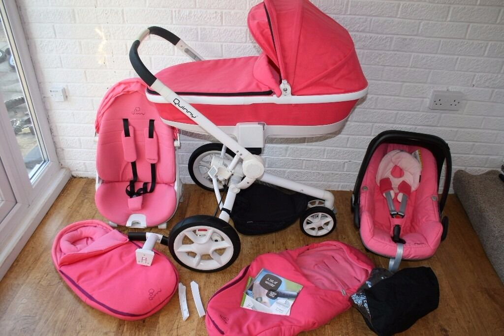 Quinny Moodd Pram Travel System With Maxi Cosi Car Seat 3 In 1 Pink Precious CAN