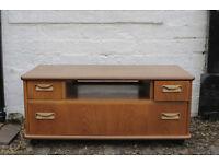 Rare, vintage TV media stand unit, desk, G-Plan, teak, danish, mid-century, retro, West End Glasgow