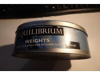 Equilibrium weights for kitchen scales