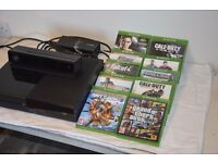 Xbox one+kinect+controller+10 games+HDMI cable