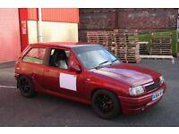 VAUXHALL NOVA 1400CC SPRINT/HILLCLIMB CAR - ROAD LEGAL WITH MOT