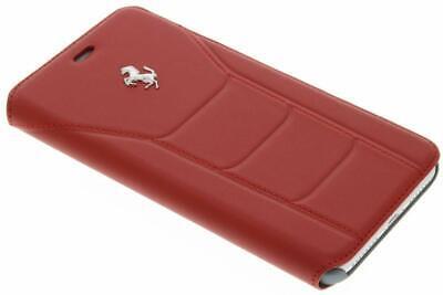 iPhone 7 Plus Ferrari 488 Book type Case Genuine Leather Red Silver Logo