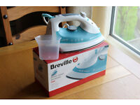 BREVILLE STEAM IRON USED TWICE BOXED AS NEW WITH MANUALS AND WATER FILLER