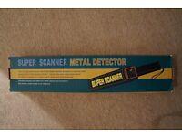 Security metal detector wand