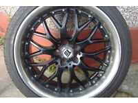 alu wheel with tires 18""