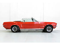 Classic LHD 1968 Ford Mustang 5.0 GT V8 Red Convertible American Muscle Car Hist