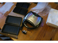 BRAND NEW 3in1 WAFFLE GRILL SANDWICH maker by Russell Hobbs
