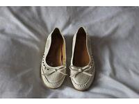 Cute white openwork boots
