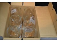 Six Kronenburg glasses with stems - excellent, in Sevilla box