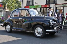 Morris Minor BLACK WITH RED SEATS
