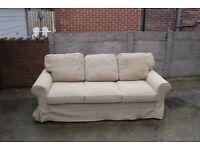 Three Seater Fabric Sofa Bed