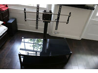 Atacama Cantilever 2 Shelf TV Stand (Black)