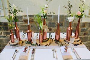 Tischdekoration Kupfer Geometrisch Hochzeit Wedding Miete in