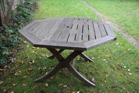 Hardwood 4 foot Garden/ Patio Table
