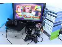 Crystal Xbox Classic & PlayStation 2 Slim Bundle With Controllers & 23 Games