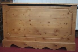 Large Pine storage chest - beautiful peice of furniture - a bargain !