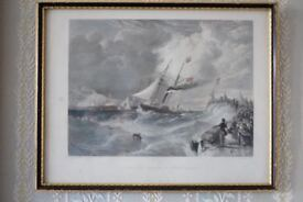 Antique Maritime print/etching After William Adolphus Knell