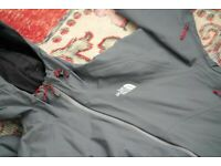 Mens The North Face Stratos Jacket Size Small S Grey Red FREE SHIPPING 🇬🇧