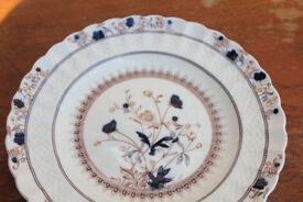 Unusual Copeland Spode Mandalay Plate 22cm Basket Weave Edge Vintage Antique