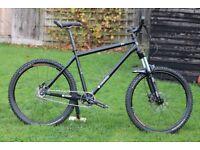 Mountain Bike Orange P7 single speed steel frame 19 inches