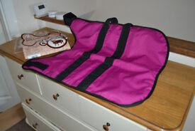 "Masta waterproof pink dog coat size 20"""