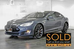 2014 Tesla Model S P85 (Performance), Pano Roof, Cold weather pk