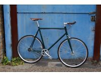 NEW IN ! Steel Frame Single speed road bike fixed gear racing fixie bicycle