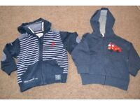 NEXT - 2 ZIP UP JACKETS WITH HOODS AGE 1 TO 2 YEARS VERY GOOD CONDITION