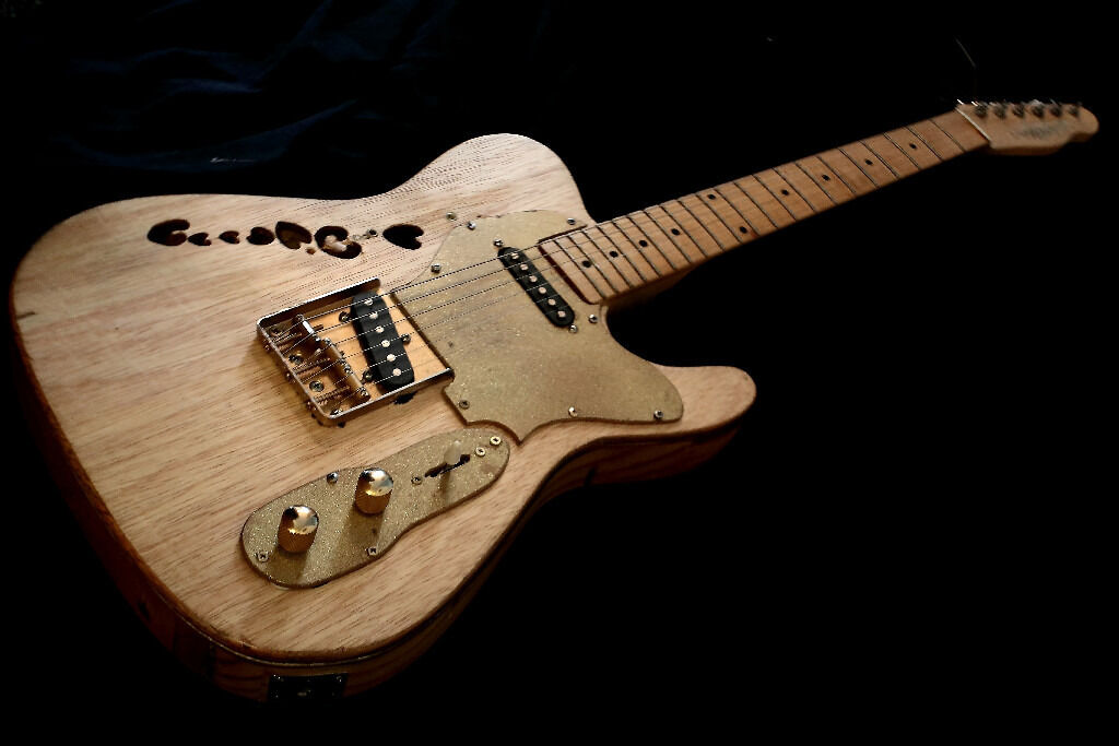 telecaster electric guitar relic thinline semi hollow not fender maple neck in heywood. Black Bedroom Furniture Sets. Home Design Ideas