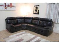 Ex-display Endurance Ashley chocolate brown leather electric recliner corner sofa