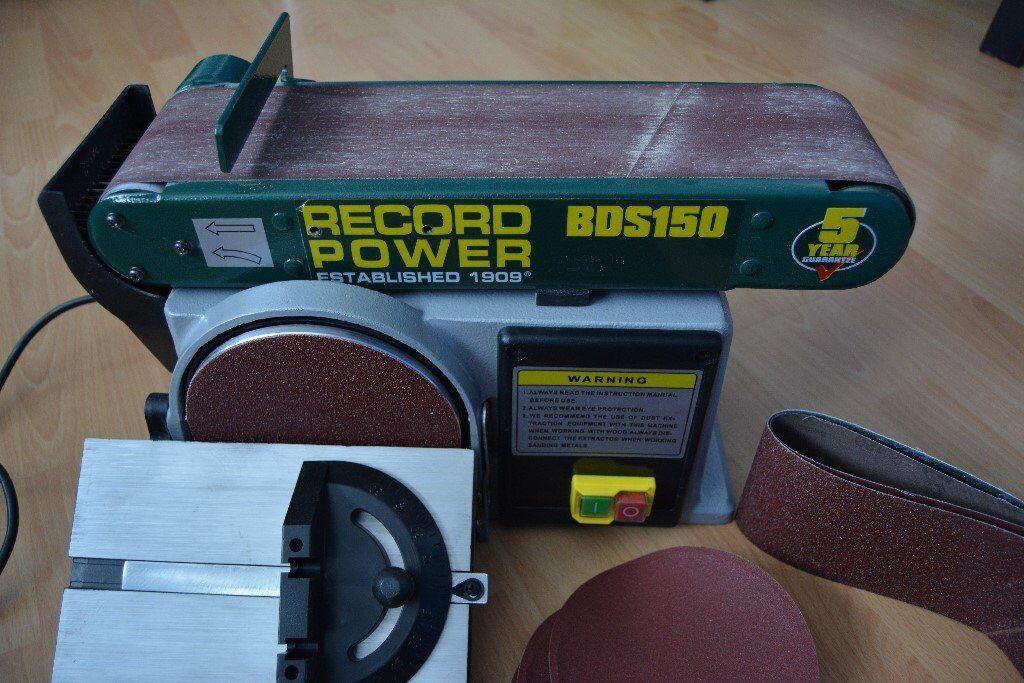 Used ONE TIME Record Power Belt & Disc Sander BDS150 152mm 230V