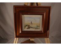 Original painting of Lunan Bay by Doris Gilmour