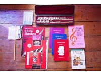 Yamaha 211S II silver plated flute and learning guides (Worth £600)