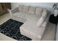 ** 1 YEAR WARRANTY** BRAND NEW KINGSTON JUMNO CORD CORNER SOFA ON SPECIAL OFFER *BRAND NEW*