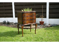Small chest of drawers with cabriole legs for sale