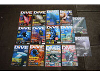 Joblot of DIVE and SCUBA magazines