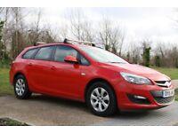2015 Vauxhall Astra 1.6 i VVT 16v Design Sport Tourer 5dr MANUAL, PETROL, 3M WARRANTY, LOW MILEAGE