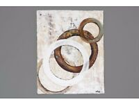 "Contemporary Modern Art Original Geometric Abstract Acrylic Painting 24 x 30"" Canvas"